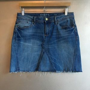 Zara denim panel mini skirt stretch L